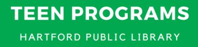 Teen Program Hartford Public Library Website
