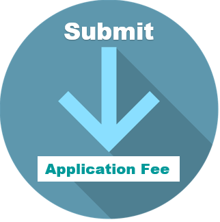 Submit application fee button